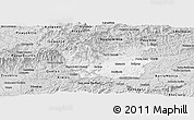 Silver Style Panoramic Map of Resende