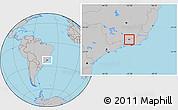 Gray Location Map of Rio das Flores