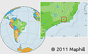 Political Location Map of Rio das Flores