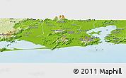 Physical Panoramic Map of Rio de Janeiro