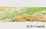 Physical Panoramic Map of Sapucaia