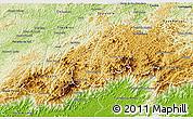 Physical 3D Map of Teresopolis