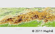 Physical Panoramic Map of Teresopolis