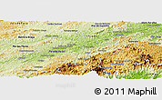 Physical Panoramic Map of Tres Rios