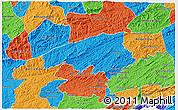 Political 3D Map of Valencia