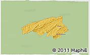 Savanna Style 3D Map of Valencia, single color outside