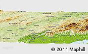 Physical Panoramic Map of Vassouras