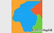 Political Simple Map of Volta Redonda