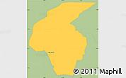 Savanna Style Simple Map of Volta Redonda