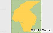 Savanna Style Simple Map of Volta Redonda, single color outside