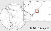 Blank Location Map of Lago n.n
