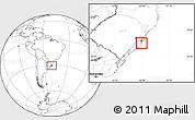 Blank Location Map of Rio Graande do Sul