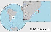 Gray Location Map of Rio Graande do Sul