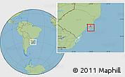 Savanna Style Location Map of Rio Graande do Sul