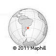 Outline Map of Rio Graande Do Sul