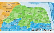 Political Shades 3D Map of Rio Grande do Norte