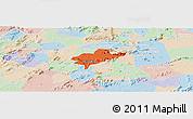 Political Panoramic Map of Alexandria, lighten