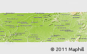 Physical Panoramic Map of Caico