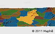 Political Panoramic Map of Caico, darken