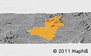 Political Panoramic Map of Caico, desaturated