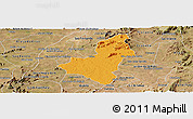 Political Panoramic Map of Caico, satellite outside