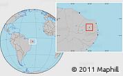 Gray Location Map of Carnauba Dos D.