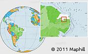 Political Location Map of Carnauba Dos D., highlighted parent region