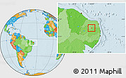 Political Location Map of Carnauba Dos D.
