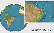 Satellite Location Map of Carnauba Dos D.