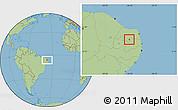 Savanna Style Location Map of Carnauba Dos D.