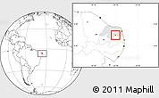 Blank Location Map of Coronel Ezequiel, highlighted parent region