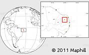 Blank Location Map of Coronel Ezequiel