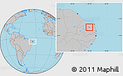 Gray Location Map of Coronel Ezequiel