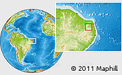 Physical Location Map of Coronel Ezequiel
