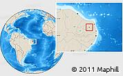 Shaded Relief Location Map of Coronel Ezequiel