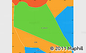 Political Simple Map of Coronel Ezequiel