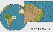 Satellite Location Map of Cruzeta