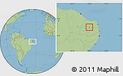 Savanna Style Location Map of Cruzeta