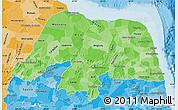 Political Shades Map of Rio Grande do Norte