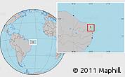 Gray Location Map of Nisia Floresta