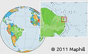Political Location Map of Nisia Floresta