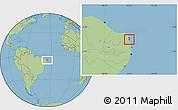 Savanna Style Location Map of Nisia Floresta