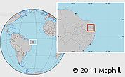 Gray Location Map of Passa E Fica