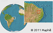Satellite Location Map of Sao Joao D. S.