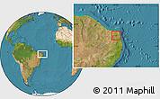 Satellite Location Map of Sao Paulo Poteng