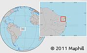 Gray Location Map of Sen. Eloi Souza