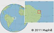 Savanna Style Location Map of Sen. Eloi Souza
