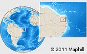 Shaded Relief Location Map of Sen. Eloi Souza