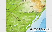 Physical 3D Map of Rio Grande do Sul