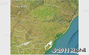 Satellite 3D Map of Rio Grande do Sul